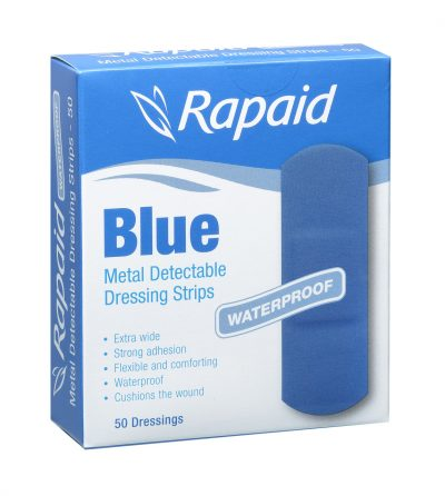 BLUE DETECTABLE EXTRA WIDE STRIP - BOX 50 1