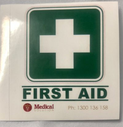 FIRST AID STICKER SMALL 5X5CM 1
