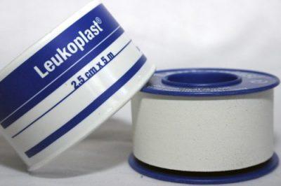 TAPE LEUKOPLAST W/PROOF 1.25CM X 5M BLUE 1