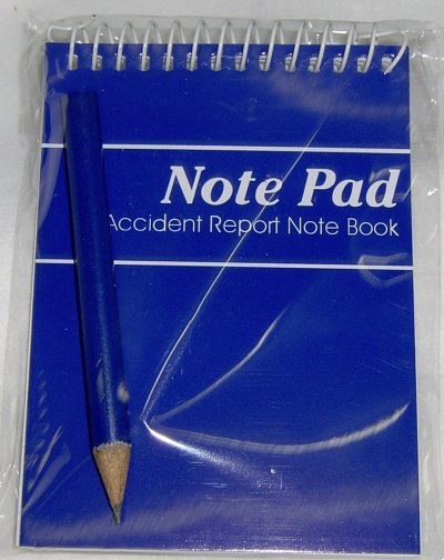 first aid notepad