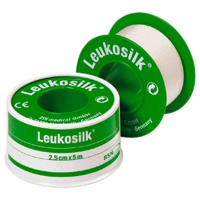 TAPE LEUKOSILK 2.5cm x 5m green