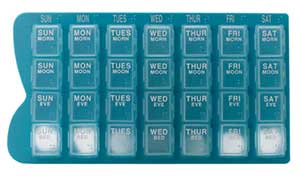 PILL DISPENSER WEEKLY REMOVABLE COMPARTMENTS 1
