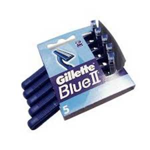 SHAVERS GILLETTE BLUE II PKT 5 1