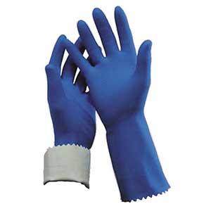 GLOVES SIZE 9 SILVERLINED- BLUE 1