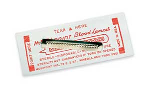 LANCETS BLOOD FEATHER BOX 200 MEDIPOINT 1