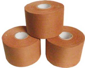 TAPE RIGID STRAPPING TAN 50MM X 13.7M 1
