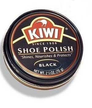 SHOE POLISH BLACK 38gm KIWI BRAND ROUND TIN 1
