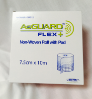 AsGuard Non-Woven Roll with Pad 7.5cm x 10m 1