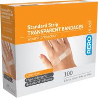 ADHESIVE TRANSPARENT PLASTIC STRIPS BOX 100 1