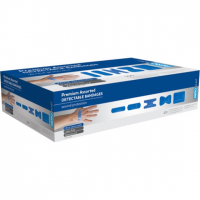 BLUE DETECTABLE ASSORTED DRESSINGS - BOX 100 1