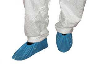 OVER SHOES (BLUE PVC) PLASTIC W/PROOF PKT 300 1