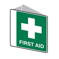 FIRST AID SIGN OFF WALL POLYPROP 225 X 225MM 1