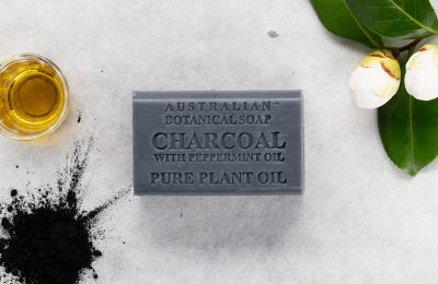 Botanical Australian Soap- Charcoal with Peppermint Oil 1