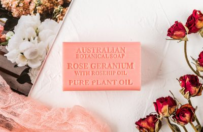 Botanical Australian Soap- Rose Geranium 1